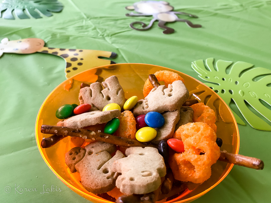 birthday party Jungle snack mix