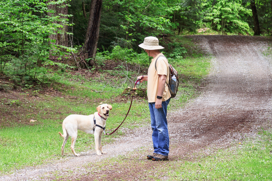 Greg and Chessie on the trail