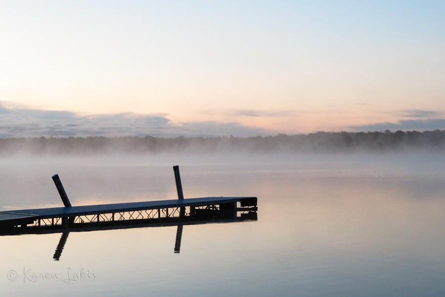misty sunrise