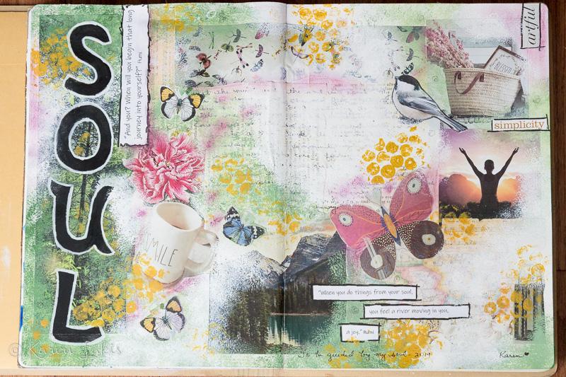 "art journal page 2019 ""soul"""