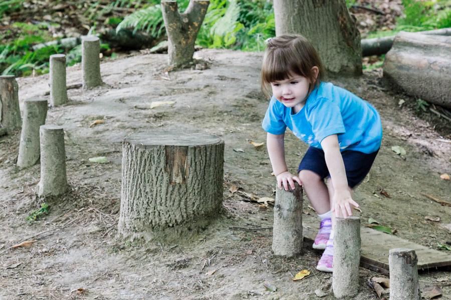 Ella in the forest playground