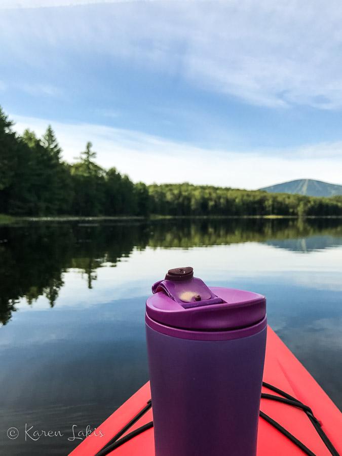 coffee on the kayak