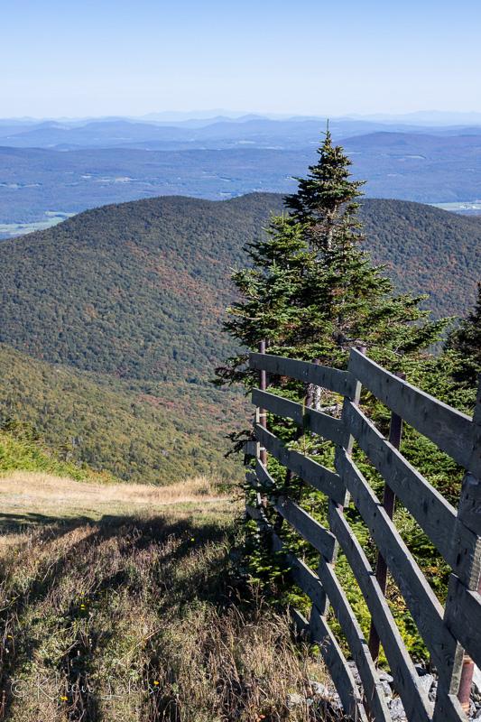 Looking down Jay Peak