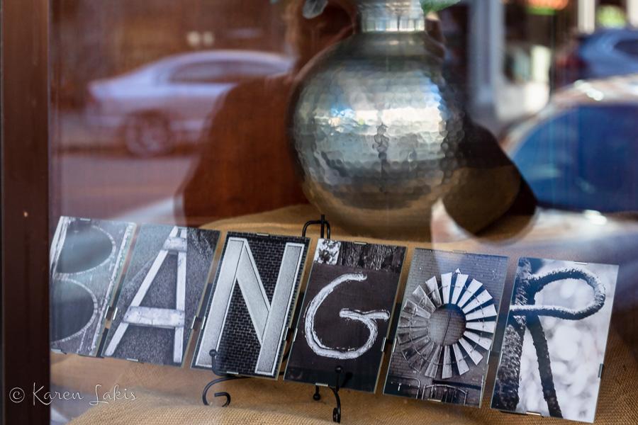 Bangor Maine shop window