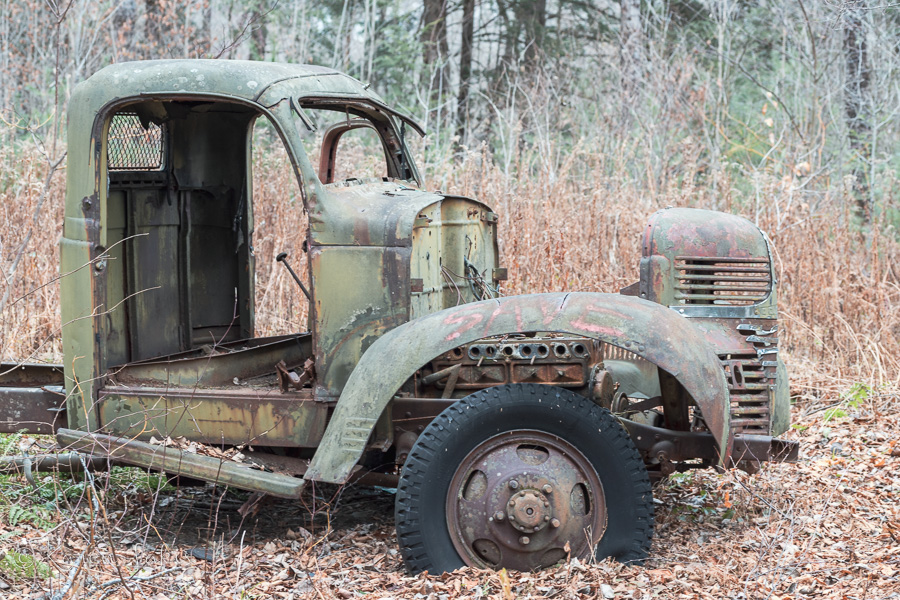 sideview of truck with missing door