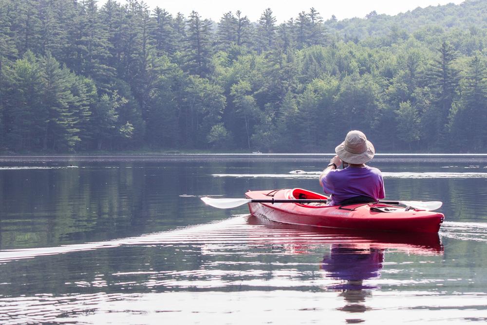 greg in his kayak